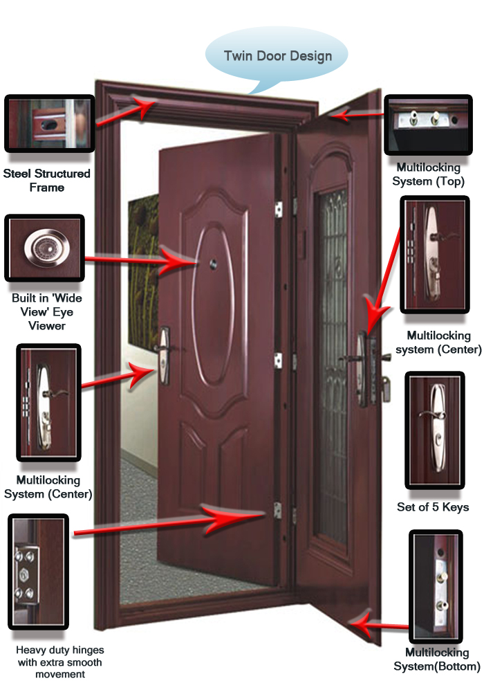 Fine cement product entasafe steel doors anti theft door for Designs for main door of flat